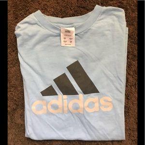 Blue adidas tee size large